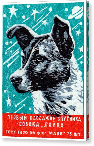1957 Laika The Space Dog Canvas Print