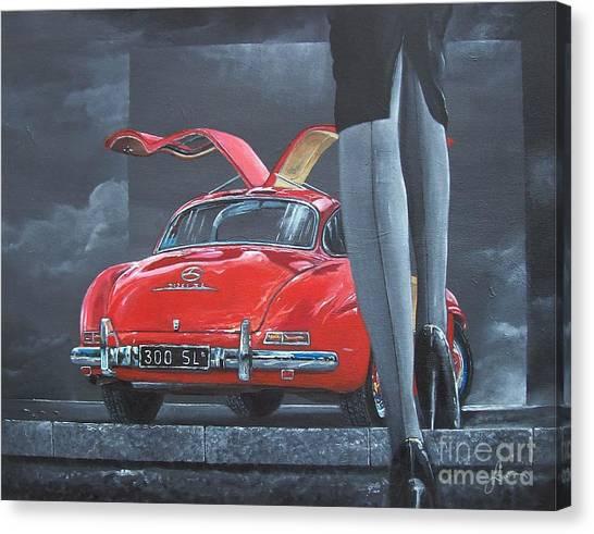 1957 Mercedes Benz 300 Sl Gullwing Coupe Canvas Print