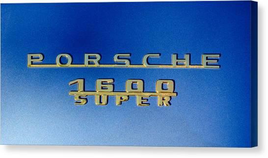 1957 Porsche 1600 Super Emblem -0562c Canvas Print by Jill Reger