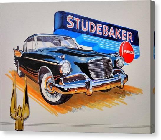 1957 Studebaker Golden Hawk Canvas Print