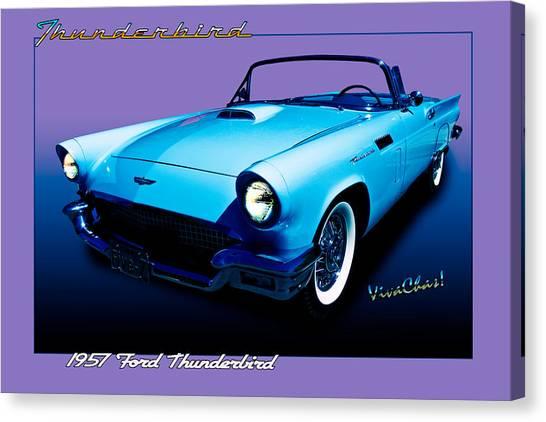 1957 Thunderbird Poster Canvas Print