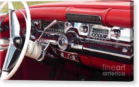 General Motors Automobiles Canvas Print - 1958 Buick Special Dashboard by Tim Gainey
