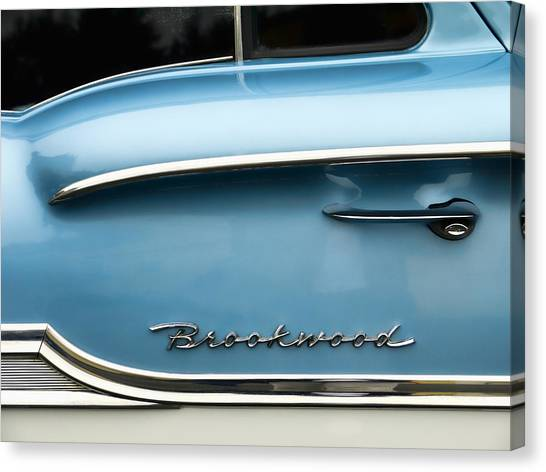 50s Canvas Print - 1958 Chevrolet Brookwood Station Wagon by Carol Leigh