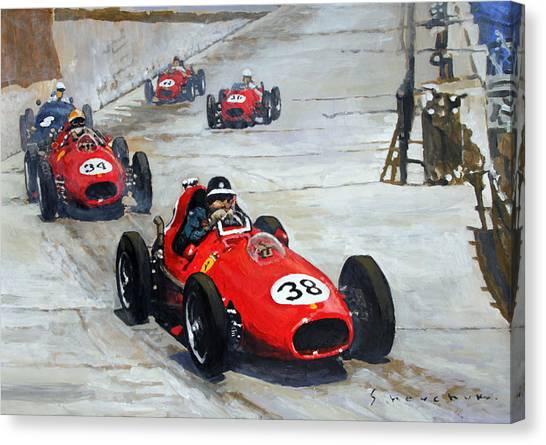 Papers Canvas Print - 1958 Monaco Gp  by Yuriy Shevchuk