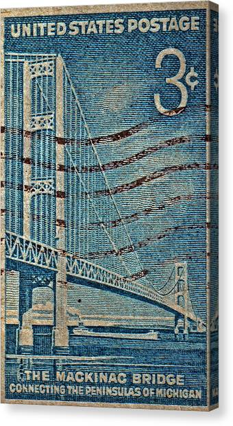 1958 The Mighty Mac Stamp Canvas Print