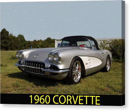 1960 Corvette Canvas Print