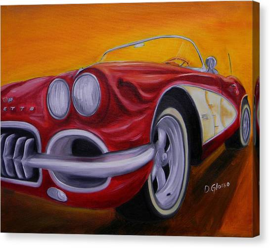 1960 Corvette - Red Canvas Print