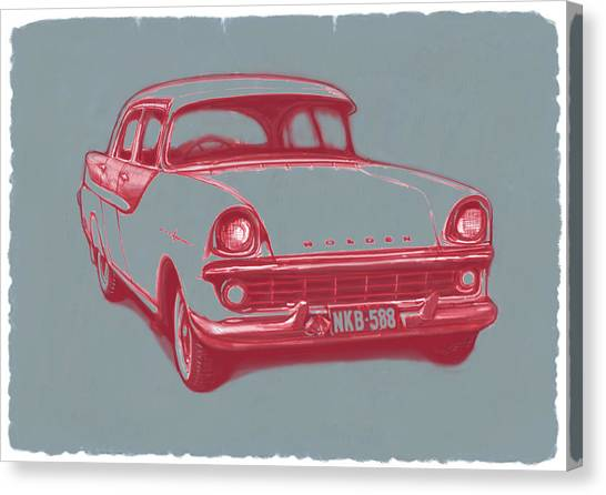 Influence Canvas Print - 1960 Fb Holden Car Art Sketch Poster by Kim Wang