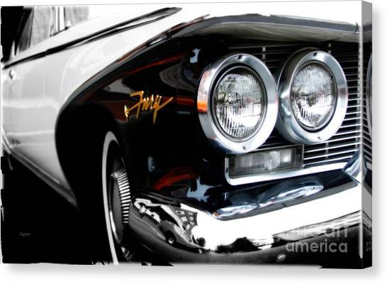 1960 Plymouth Fury  Canvas Print by Steven Digman