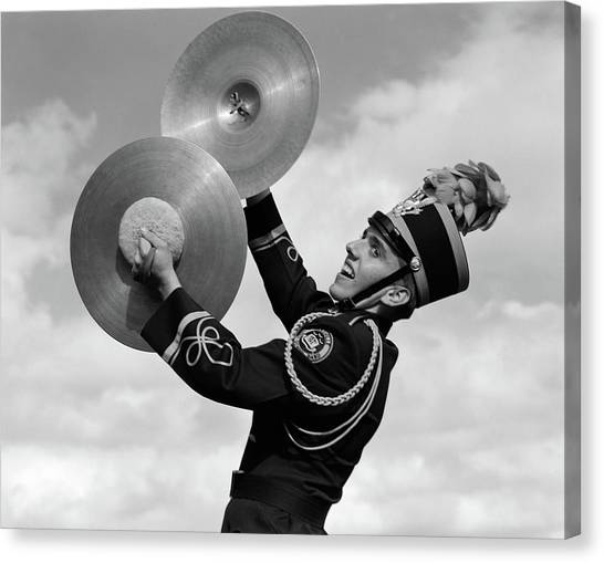 Marching Band Canvas Print - 1960s Portrait Of Boy In Band Uniform by Vintage Images