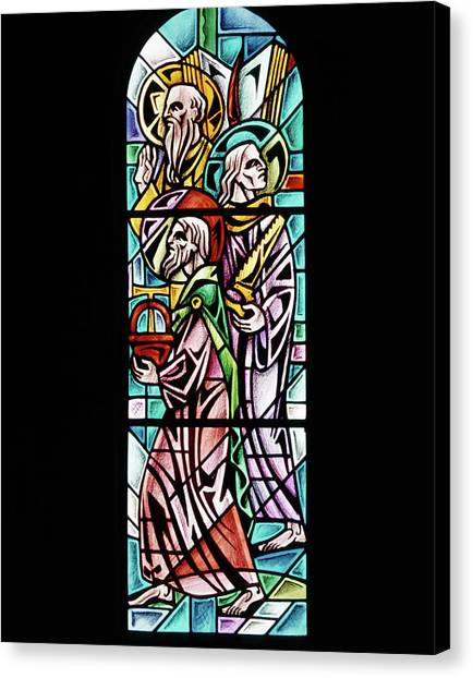 Incarnation Canvas Print - 1960s Stained Glass Window Design by Vintage Images