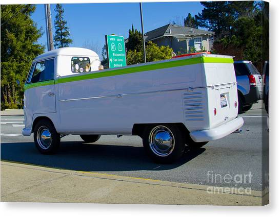 1960's Vw Truck  Canvas Print by Aaron Fromenthal