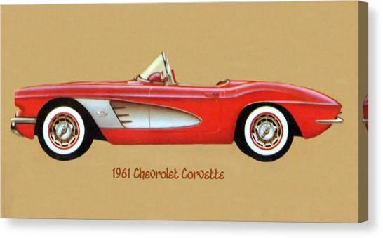 1961 Chevrolet Corvette Canvas Print