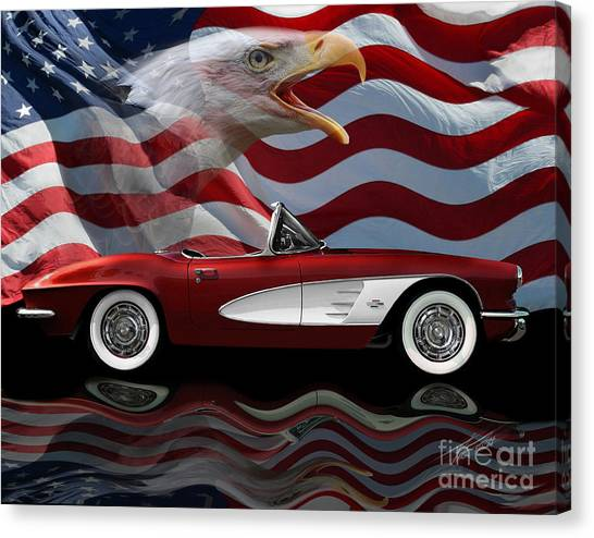 1961 Corvette Tribute Canvas Print