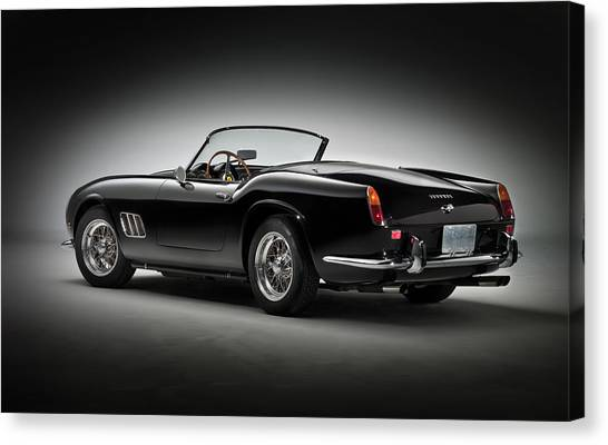 Classic Hotrod Canvas Print - 1961 Ferrari 250 Gt California Spyder by Gianfranco Weiss