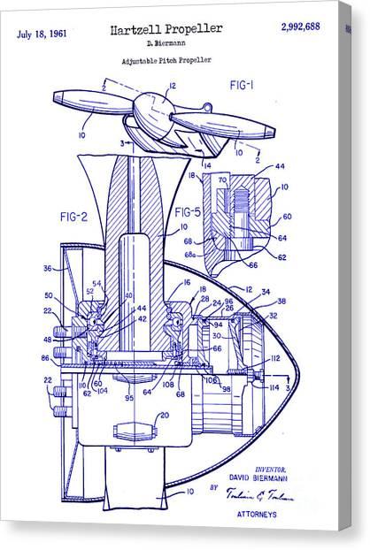 Airplane blueprint canvas prints fine art america airplane blueprint canvas print 1961 hartzell propeller blueprint by jon neidert malvernweather Image collections
