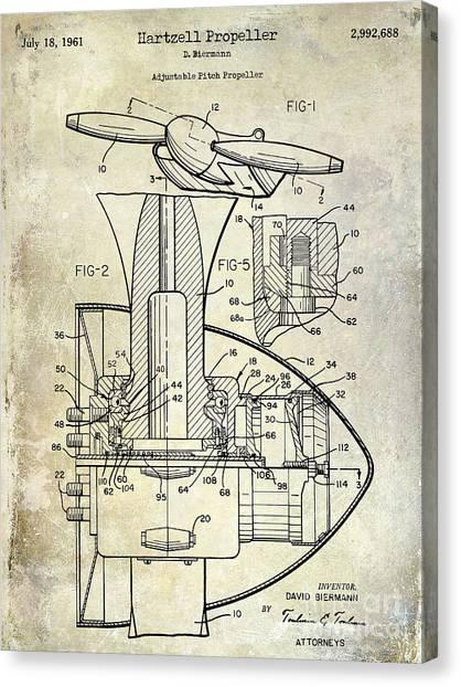 Airplane blueprint canvas prints fine art america airplane blueprint canvas print 1961 hartzell propeller patent blueprint by jon neidert malvernweather Image collections