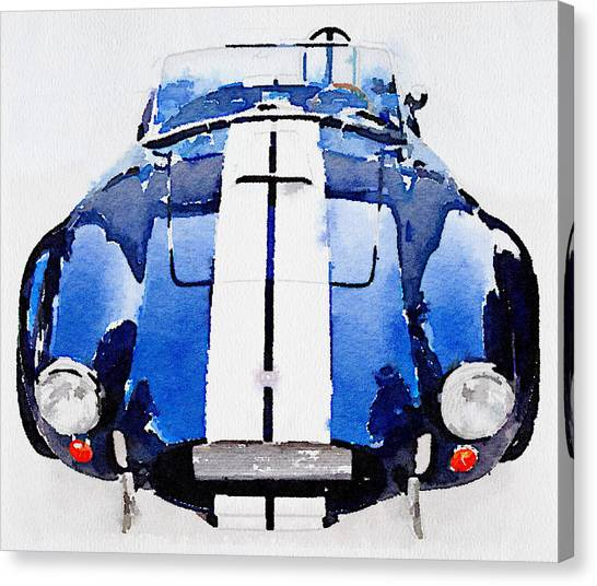 Cobras Canvas Print - 1962 Ac Cobra Shelby Watercolor by Naxart Studio