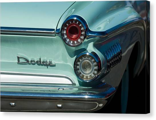 Dodge - Plymouth - Chrysler Automobiles Canvas Print - 1962 Dodge Dart Taillight by Jill Reger