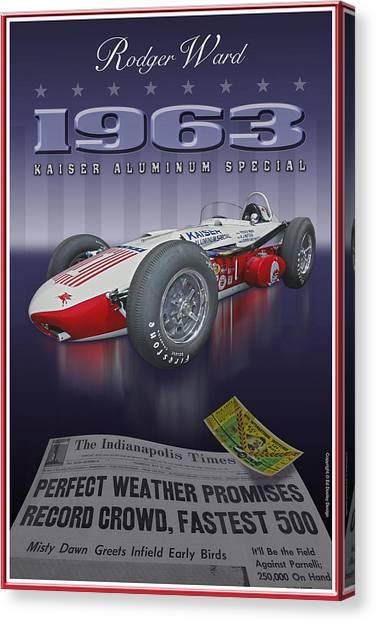 1963 Kaiser Aluminum Roadster Canvas Print