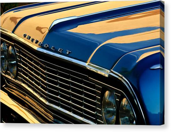 Chevelle Canvas Print - 1964 Chevrolet Chevelle Grille by Jill Reger