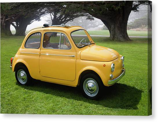 1964 Fiat 500d Canvas Print by Car Culture