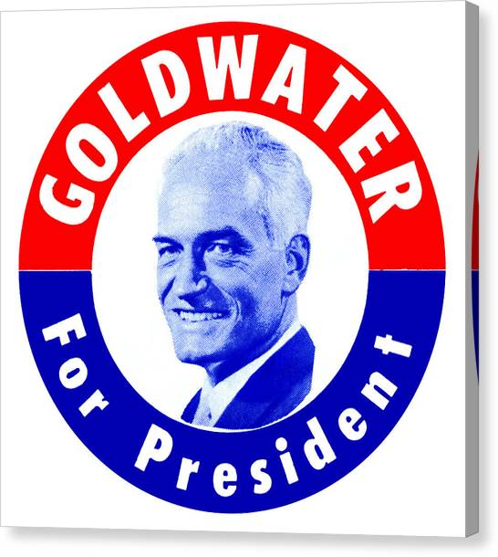 Libertarian Canvas Print - 1964 Goldwater For President by Historic Image