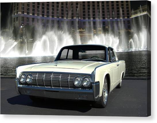 1964 Lincoln Continental Canvas Print