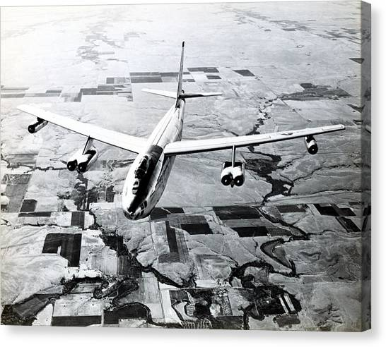 1965 Air Force B-47 In Flight Canvas Print