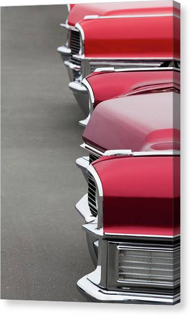 1965 Cadillac Deville Convertible Coupe Canvas Print by Car Culture