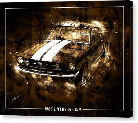 1965 Ford Shelby Mustang Gto-350 #5 Canvas Print
