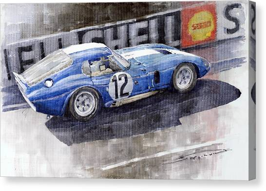 Cobras Canvas Print - 1965 Le Mans  Daytona Cobra Coupe  by Yuriy Shevchuk