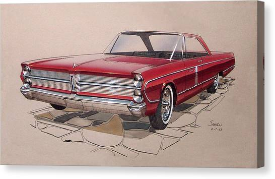 1965 Plymouth Fury  Vintage Styling Design Concept Rendering Sketch Canvas Print by John Samsen