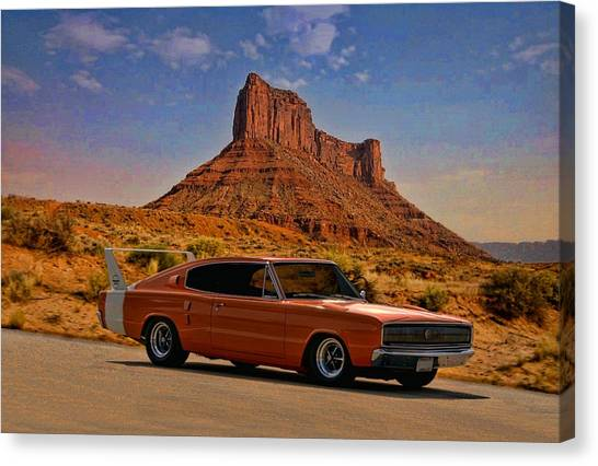 1966 Dodge Charger 500 Canvas Print