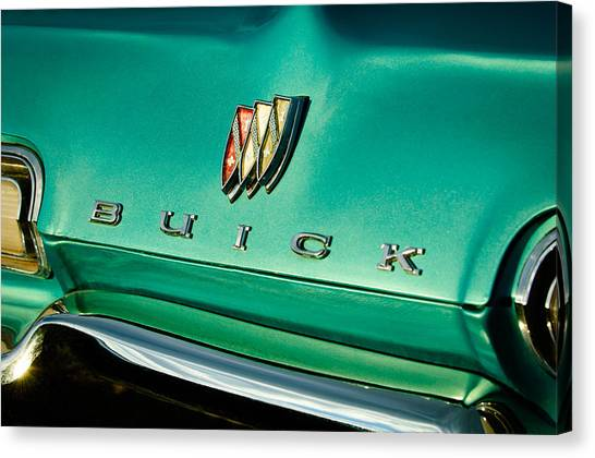 Buick Emblem Canvas Print - 1967 Buick Lesabre Grille Emblem by Jill Reger