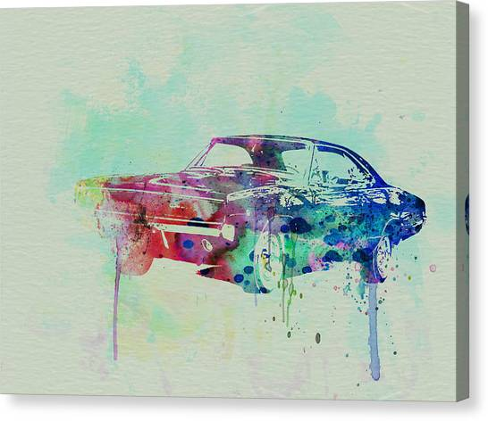 Muscle Cars Canvas Print - 1967 Dodge Charger  2 by Naxart Studio