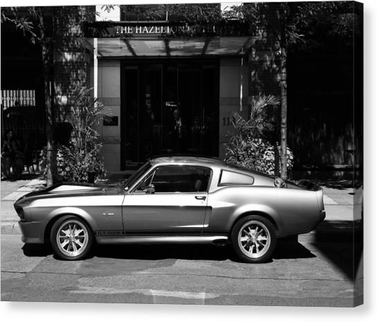 67 Canvas Print - 1967 Shelby Mustang B by Andrew Fare