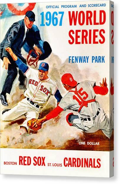 St. Louis Cardinals Canvas Print - 1967 World Series Program by John Farr