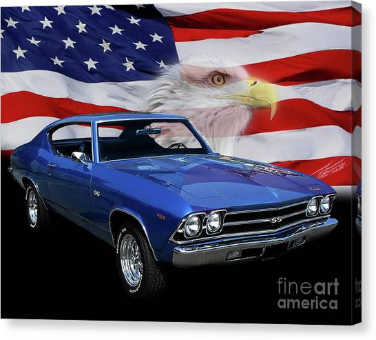 1969 Chevelle Tribute Canvas Print