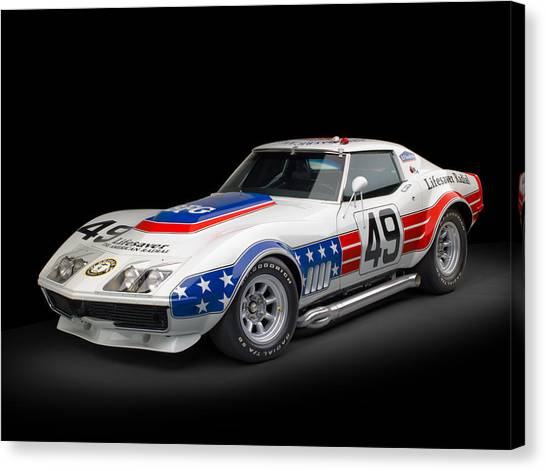 Classic Hotrod Canvas Print - 1969 Chevrolet Stars And Stripes L88 Zl-1 Corvette by Gianfranco Weiss