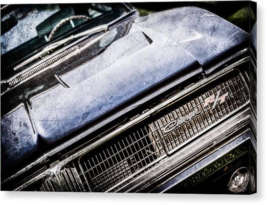 Dodge Canvas Print - 1969 Dodge Charger R-t Emblem -1135ac by Jill Reger