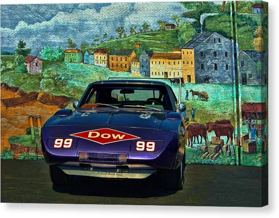 Stock Cars Canvas Print - 1969 Dodge Daytona Stock Car Replica by Tim McCullough