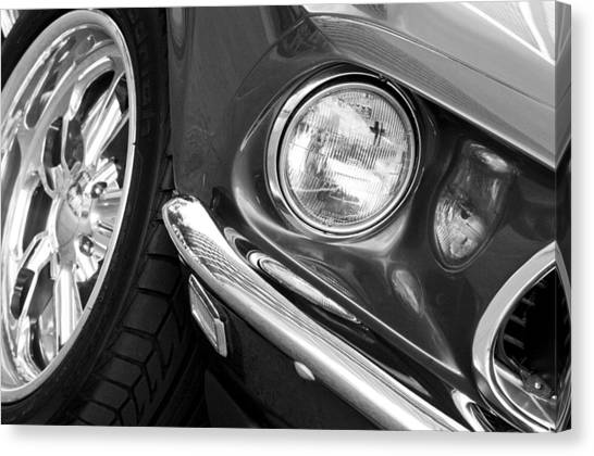Front End Canvas Print - 1969 Ford Mustang Mach 1 Front End by Jill Reger
