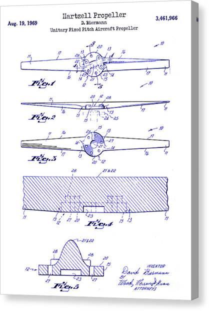 Airplane blueprint canvas prints fine art america airplane blueprint canvas print 1969 hartzell propeller patent blueprint by jon neidert malvernweather Image collections