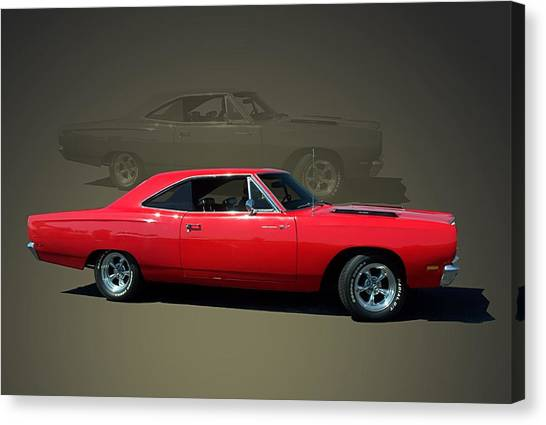 1969 Plymouth 440 Roadrunner Canvas Print
