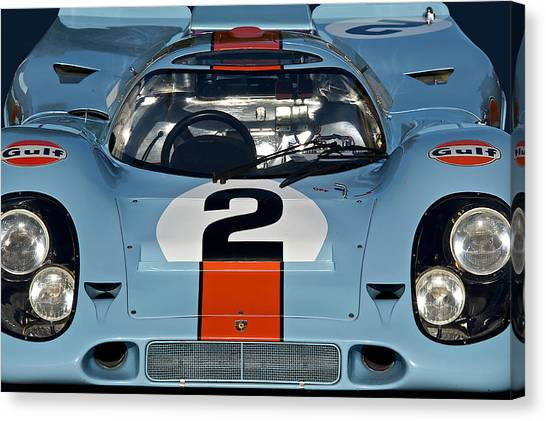 1969 Porsche 911 917k Canvas Print by Dave Koontz