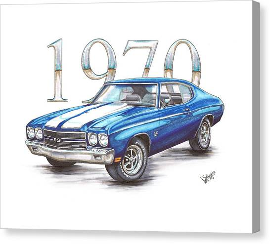 Chevelle Canvas Print - 1970 Chevrolet Chevelle Super Sport by Shannon Watts