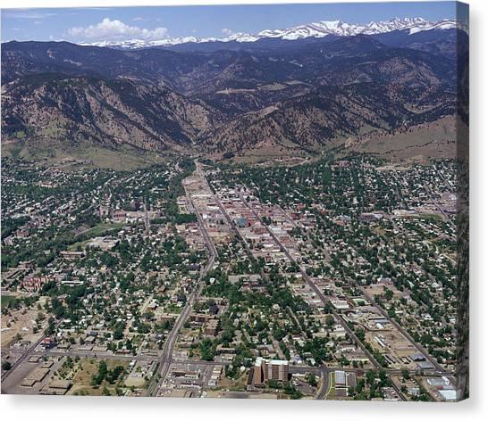 University Of Colorado Canvas Print - 1970s Boulder Colorado Usa by Vintage Images
