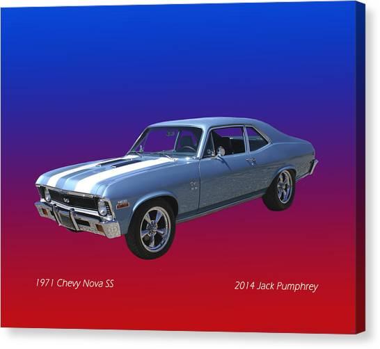 1971 Chevy Nova S S Canvas Print