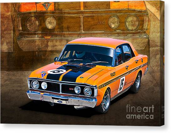1971 Ford Falcon Xy Gt Canvas Print